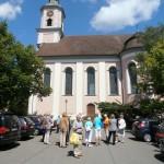 Vor der Barockkirche