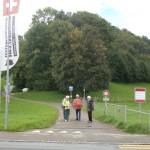 Vor dem Festungsmuseum Heldsberg